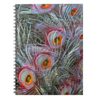 Disco 70s Peacock Eyes Notebooks