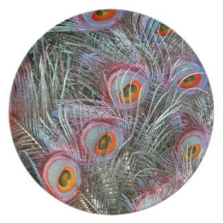 Disco 70s Peacock Eyes Plates