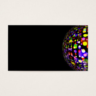 disco-ball-381907  COLORFUL BOHEK MUSIC PARTY CIRC Business Card