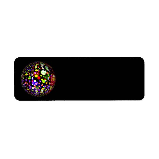 disco-ball-381907  COLORFUL BOHEK MUSIC PARTY CIRC Return Address Label
