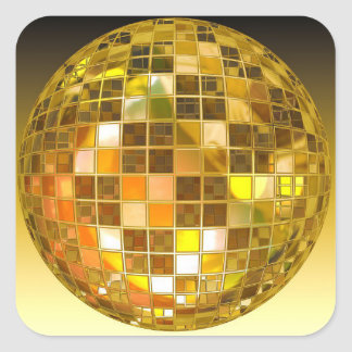 Disco Ball 70s Themed  Birthday Party Stickers