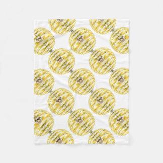 Disco Ball Bee Hive Pattern Fleece Blanket
