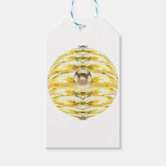 Disco Ball Bee Hive Pattern Gift Tags