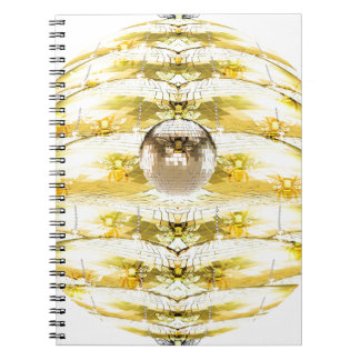 Disco Ball Bee Hive Pattern Notebooks