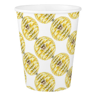 Disco Ball Bee Hive Pattern Paper Cup