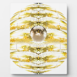 Disco Ball Bee Hive Pattern Plaque