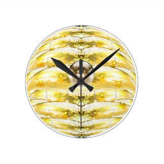 Disco Ball Bee Hive Pattern Round Clock