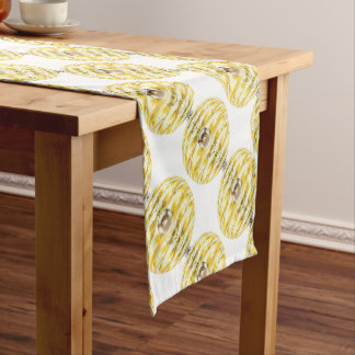 Disco Ball Bee Hive Pattern Short Table Runner