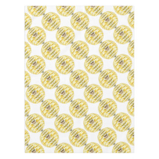 Disco Ball Bee Hive Pattern Tablecloth