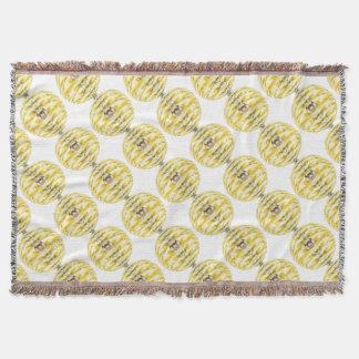 Disco Ball Bee Hive Pattern Throw Blanket