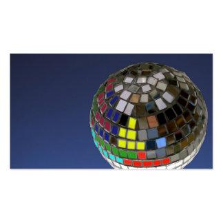 disco ball business card