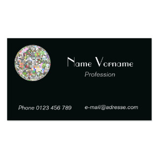 Disco ball pack of standard business cards