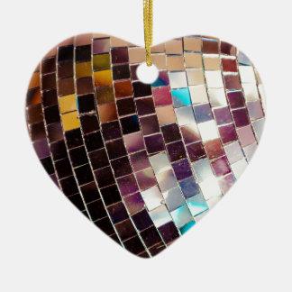 Disco Ball Ceramic Heart Decoration