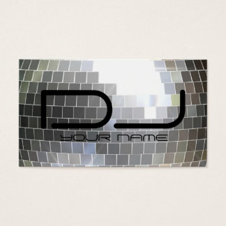 Disco Ball Dj Business Card