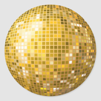Disco Ball Gold Sticker