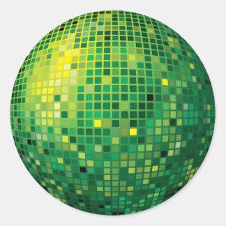 Disco Ball Green Sticker
