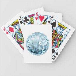 Disco Ball Illustration Bicycle Playing Cards