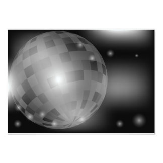 Disco Ball 5x7 Paper Invitation Card
