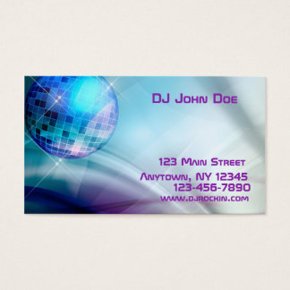 Disco Ball Music Business Card