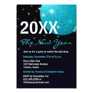 Disco Ball New Years Invitations