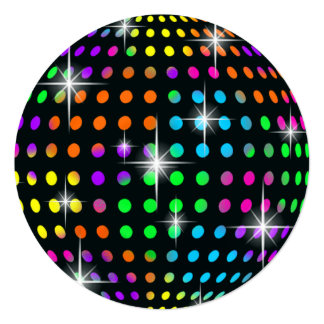 Disco Ball Party Invitation