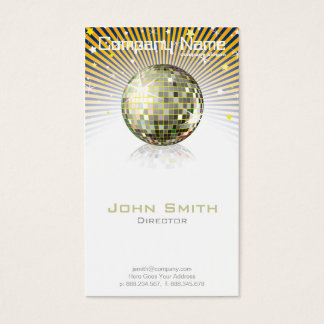 Disco Ball Profile Card