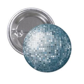 Disco Ball Silver Button