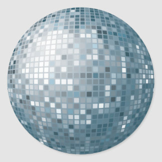 Disco Ball Silver Sticker