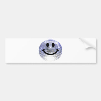 Disco Ball Smiley Bumper Sticker