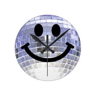 Disco Ball Smiley Clock