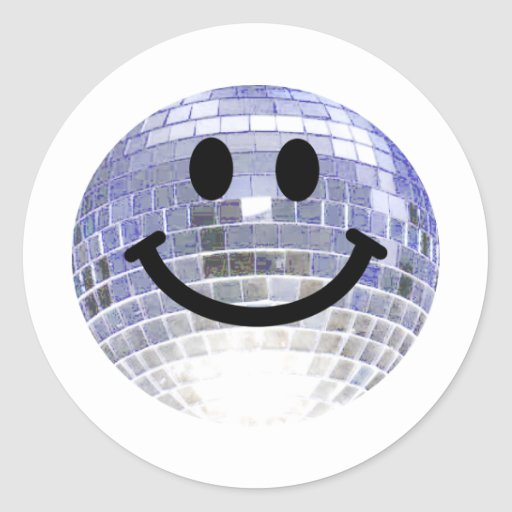 Disco Ball Smiley Sticker