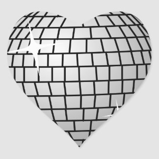 Disco Ball Sticker (Heart)