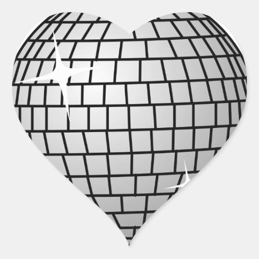 Disco Ball Sticker (Heart)