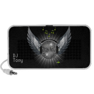 Disco Ball with Wings Notebook Speaker