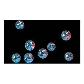 disco balls in empty space business card