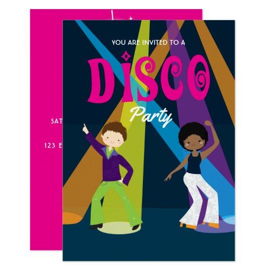 Disco Birthday Party invitation