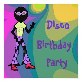 Disco Birthday Party Invitations