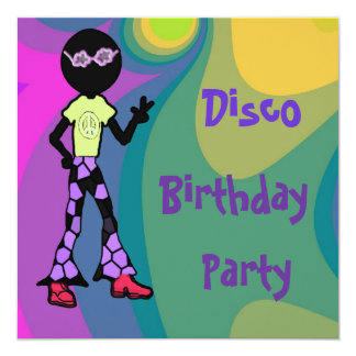 Disco Birthday Party Invitations