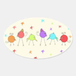 Disco Chicks Oval Sticker