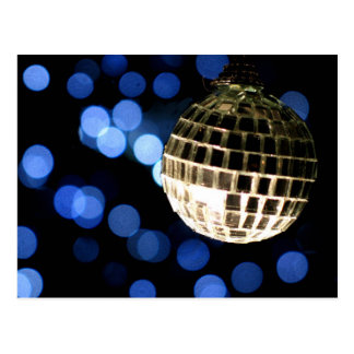 Disco Christmas custom postcard