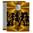 Disco Dance Birthday Party disco ball Card