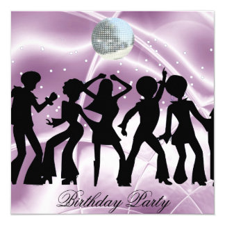 Disco Dance Birthday Party  Invitation