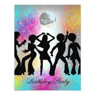 Disco Dance Birthday Party Invitation 1