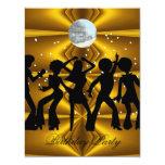 Disco Dance Birthday Party Invitation 4 Personalized Invite