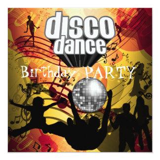 Disco Dance Birthday Party Retro 13 Cm X 13 Cm Square Invitation Card