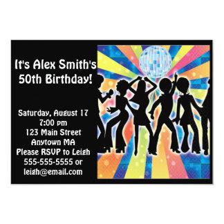 Disco Dance Kid Adult Birthday Invitation