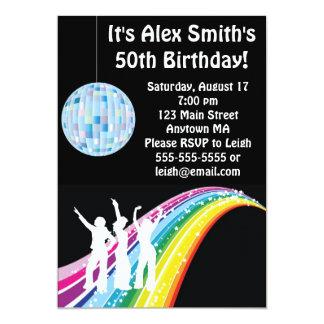 "Disco Dance Kid Adult Birthday Invitation 5"" X 7"" Invitation Card"