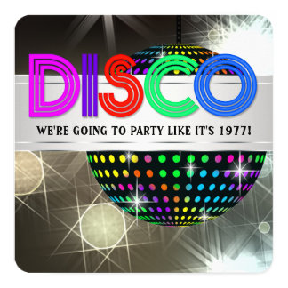 Disco Dance Party Card