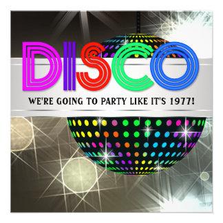 Disco Dance Party Invitations