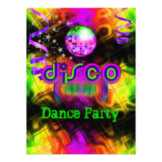 Disco Dance Party Psychedelic music Personalized Announcement